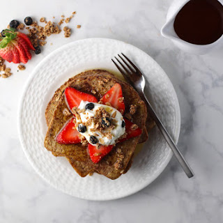 Simple French Toast on Sprouted Bread.