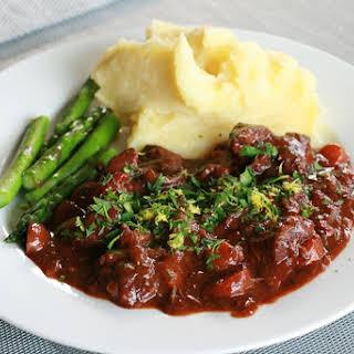 Beef in Red Wine Casserole.