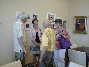 Photo: Ralph Papa Les and Margaret / 4-21-13 Les & Sydelle Art exhibit at Weissman Ctr