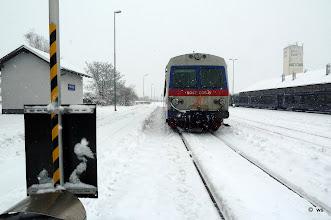 Photo: blockiertes gleis in marchegg