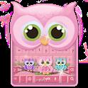 Cute owl keyboard icon