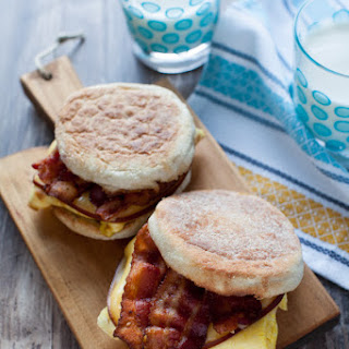 Bacon Gouda Breakfast Sandwiches.