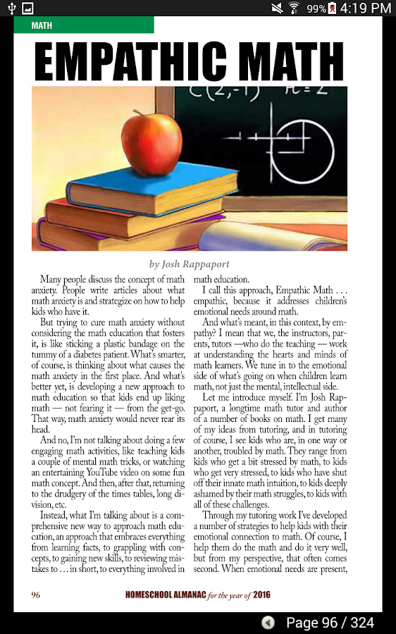 Homeschooling Almanac- screenshot