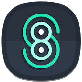 Nightmare Squircle ~ Dark S8/Note8 Icon Pack