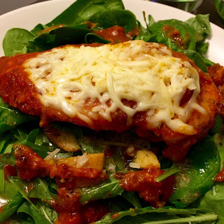 Warm Chicken Parmesan Salad