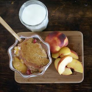 Gluten-Free Peach Berry Cobbler.