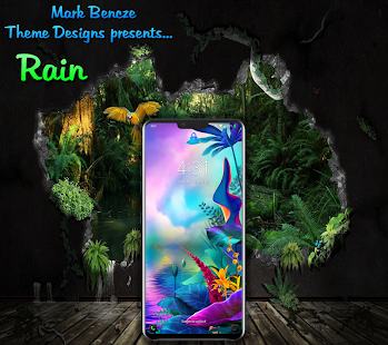 Rain Theme for LG G8, V40, V50 UX8 Android 9 for PC-Windows 7,8,10 and Mac apk screenshot 3