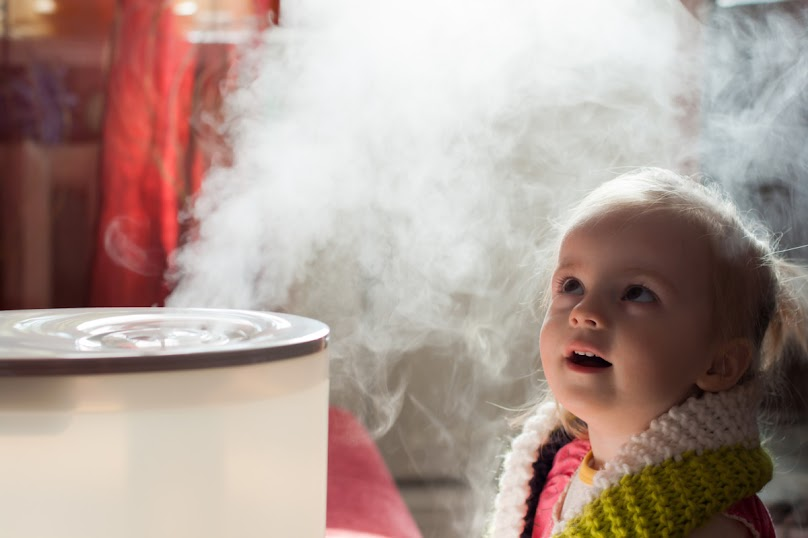 Nawilżacz powietrza w pokoju dziecięcym