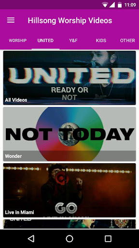Hillsong Worship Videos App Report on Mobile Action - App