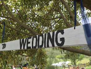 Photo: Wedding signage