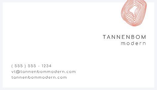Tannenbom Modern Back - Business Card Template