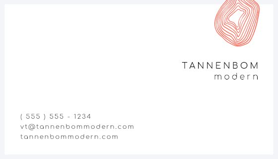 Tannenbom Modern Back - Business Card Template