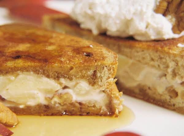Food, Flavor, And Spirits Pairings In This French Toast Are Apple Wine, Brandy, White Chocolate, Maple, Vanilla, Caramel, And Pecans!