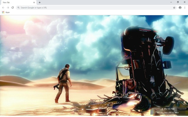 Uncharted 3: Drake's Deception New Tab Theme