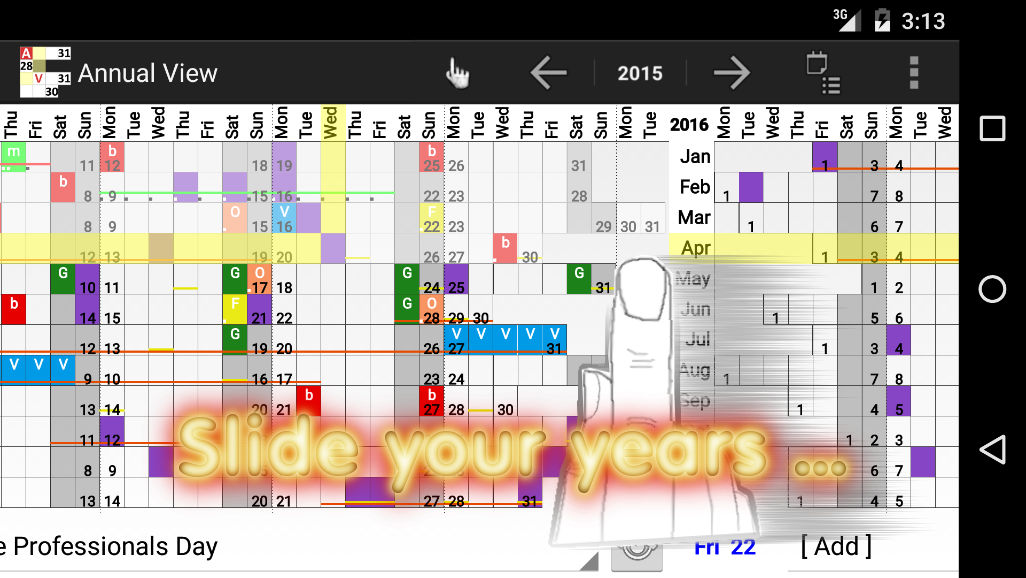 Annual View - Calendar *- screenshot