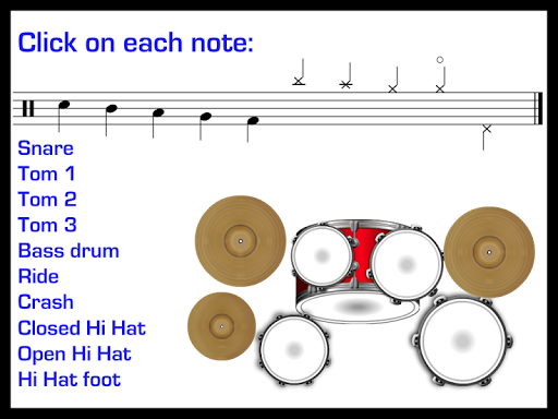 Learn to play Drums: Rock, Blues, Jazz, Funk. PRO Aplicaciones para Android screenshot