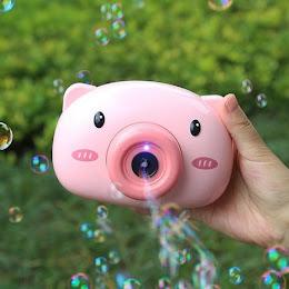 Aparat foto de jucarie, pentru facut baloane de sapun