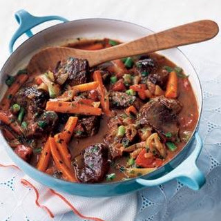 Quick Spring Lamb and Vegetable Stew.