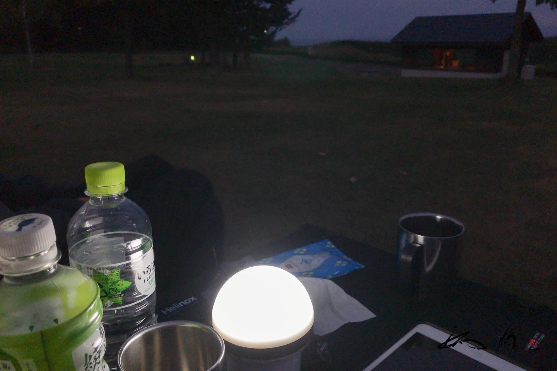 充電式ライト「ヒカルちゃん」の灯りで。。。