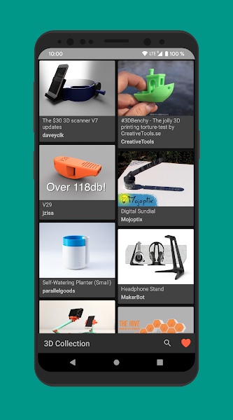3D Collection | Thingiverse browser