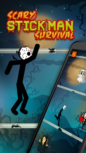 Code Triche Survie de stickman effrayant - Halloween Escape Ju APK MOD screenshots 1