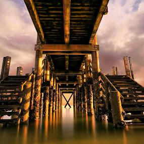 Maraetai Pier by Jomy Jose - Buildings & Architecture Bridges & Suspended Structures ( hannahsdreamz, auckland, pier, jomy jose, maraetai pier, wharf, new zealand )