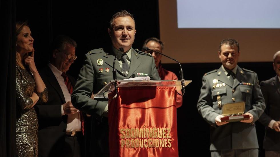 Teniente Segura en la Gala de SDomíngez.