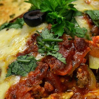 Zucchini Lasagna With Beef and Sausage.