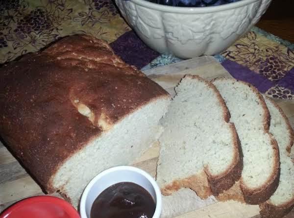 Rustic Gf Sourdough Bread Served With Tofutti Cream Cheese & Organic Apple Butter
