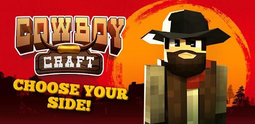 Wild west game, cowboys & indians! Crafting & building, gunsmoke & train robbery