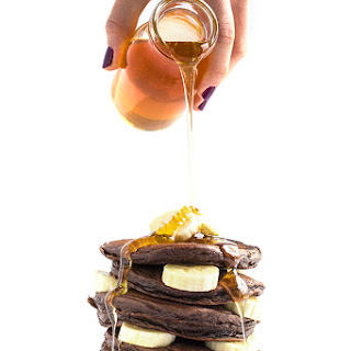 Chocolate Banana Greek Yogurt Pancakes {Healthy New Year Challenge - Week 4}