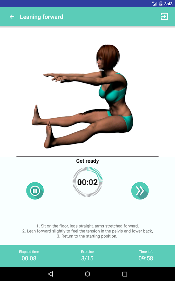Stretching exercises for full body workouts- screenshot