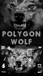 Polygon Wolf Keyboard Theme - náhled