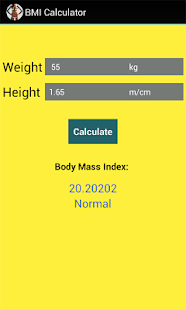 BMI Calculator for Weight Loss- screenshot thumbnail