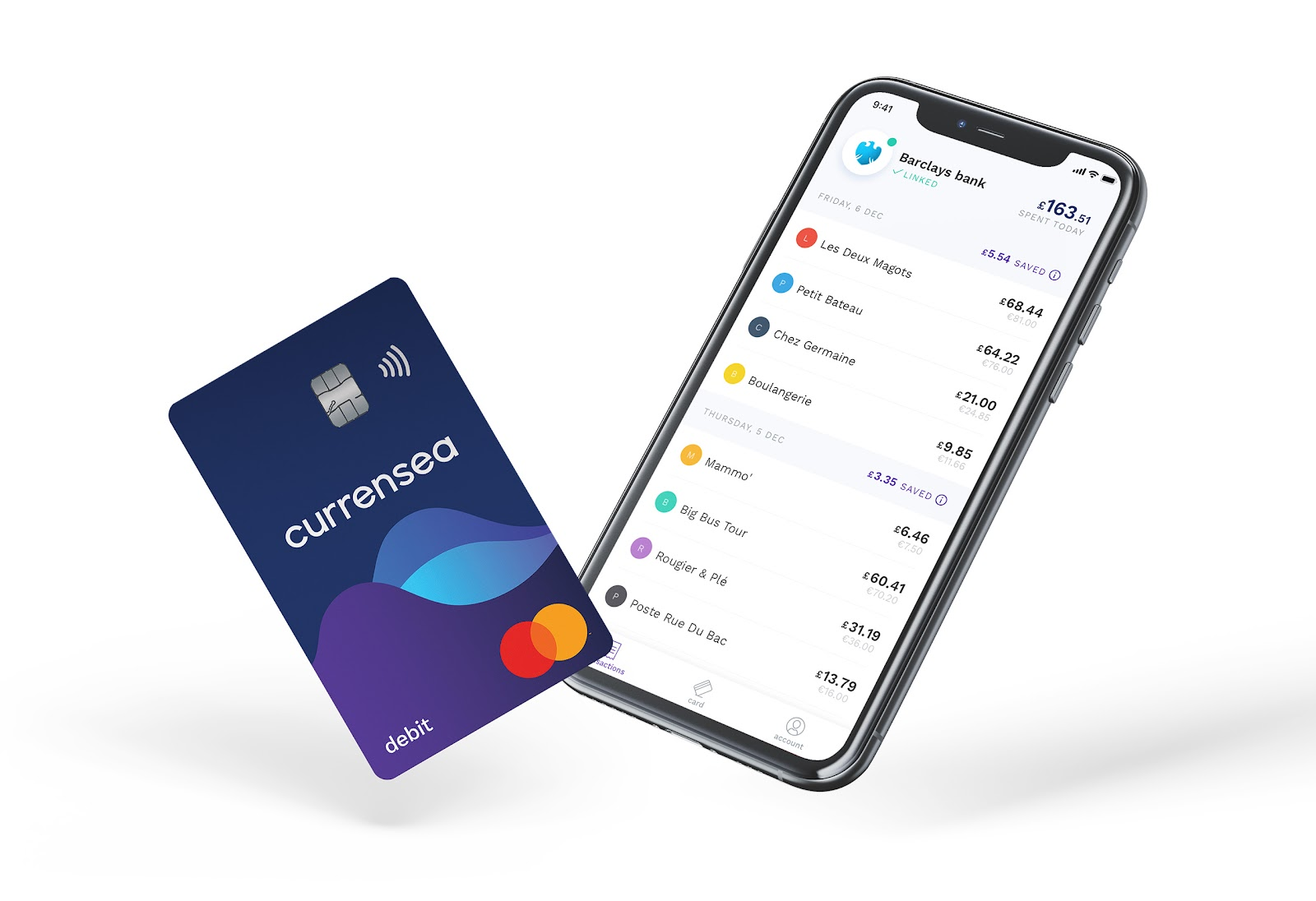 Currensea app -wave goodbye to transaction fees when spending in a different currency