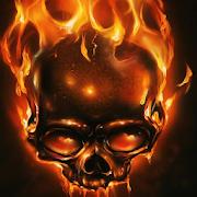 fire skulls live wallpaper icon