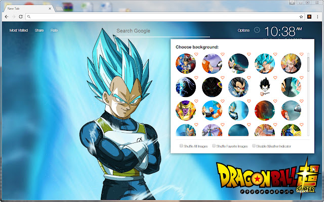 New Tab Themes With HD Wallpapers Of Vegeta