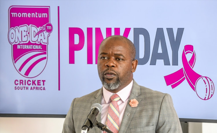 Thabang Moroe (CEO) of Cricket South Africa during the Momentum Pink Day launch at Bidvest Wanderers Stadium on January 16, 2019 in Johannesburg, South Africa.
