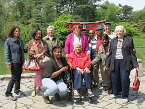 Photo: Here's some of the group on May 16 in the beautiful Brooklyn Botanic Garden. New York Memory Center Board President Allan Kramer II (back row right) has also been a longtime volunteer at BBG.