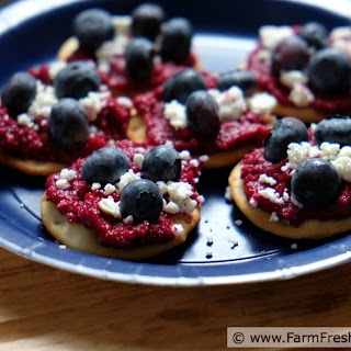 Beet, Blueberry and Goat Cheese Rounds Recipe