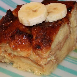 Tropical Fruit Bread Pudding With Butter-Rum Hard Sauce