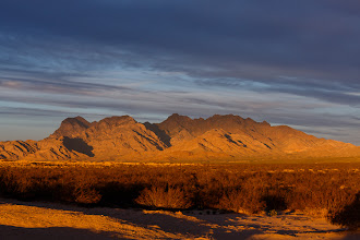 Photo: Golden Hour in Mojave National Preserve, California.