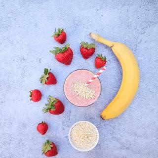Strawberry Banana Amaranth Smoothie.