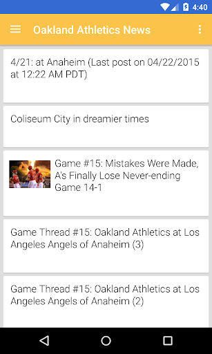 BIG Oakland Baseball ニュース