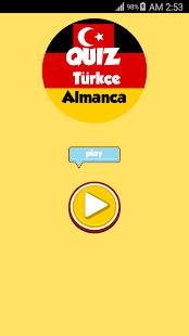 Türkçe Almanca Quiz - náhled