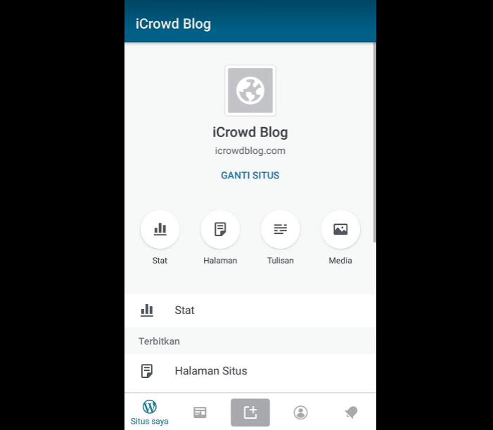 dasboard app wordpress