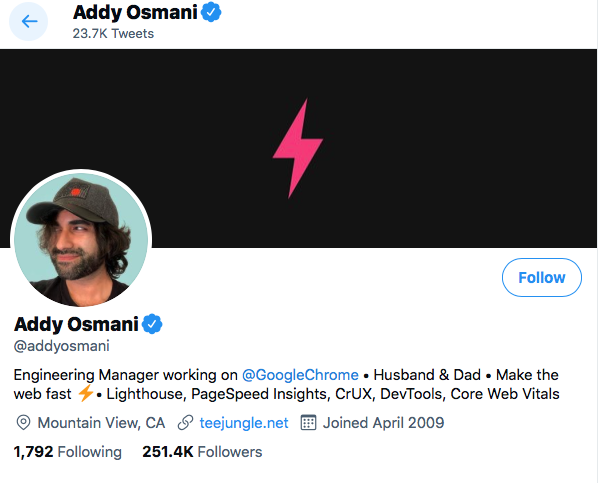 Top JavaScript Experts And Thought Leaders to Follow addy osmani