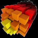 S8 Color Burst Particles Nougat 3D live wallpaper icon