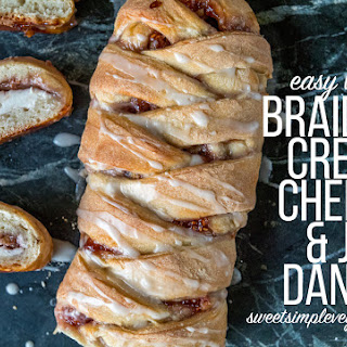 Vegan Braided Cream Cheese & Jam Danish.