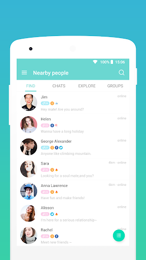 SayHi Chat, Meet New People 7.21 screenshots 1